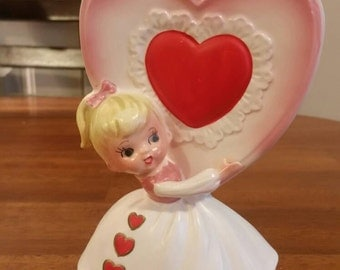 Relpo Little Girl Heart Vase