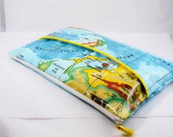 """Cover / sleeve computer 13 """"inches map oilcloth"""