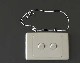 GUINEA PIG Wall Sticker, Removable Decal, Made In Australia