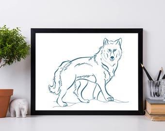 Wolf Wall Art wolf wall art | etsy
