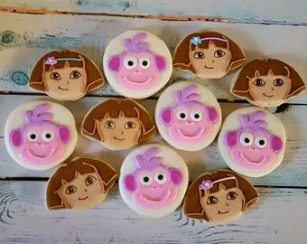 Dora & Boots Sugar Cookies