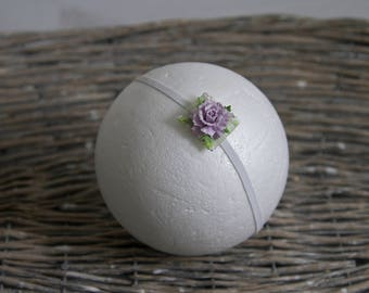 Newborn Headband With Flower