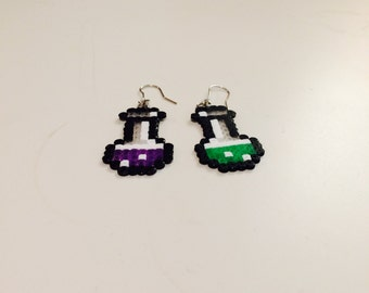 Potion bottles - 8 Bit inspired
