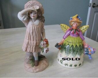 REDUCED Vintage Figurines Enesco One Step Beyond 1980    525