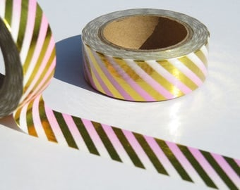 Pink and Gold Ombre Foil Washi  Masking tape