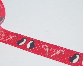 Penguin Washi Tape - Red Christmas Washi/Gift Wrapping Tape