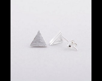 Earrings silver triangle, filigree earrings in silver, triangle earring