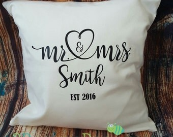 Newlywed gift!! mr and mrs, bride and groom, bride, home decor, pillow cover, living room decor, anniversary, I do, bride, pillow cover