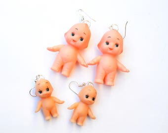 Kewpie baby doll earrings