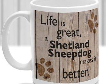Shetland Sheepdog Mug, Shetland Sheepdog gift, dog breed mug, ideal present for dog lover