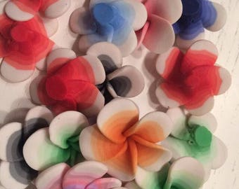 Lot of 30 flowers im fimo 3 cm