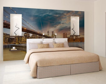 Brooklyn Bridge wallpaper, wall mural, temporary wallpaper, photo wallpaper, self adhesive