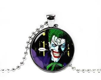 Joker Pendant Joker Comic Necklace with a ball chain Fandom Jewelry Cosplay Fangirl Fanboy