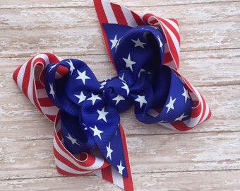 4th of july hair bows, memorial day hair bow, patriotic hair bows, flag hair bows, flag bow, american flag hair bows, american hair bow