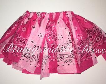 Valentine's Day Bandana Tutu, Bandana tutu, Hot pink bandana tutu, light pink bandana tutu, Valentine's Day Tutu, infant/todd bandana skirt