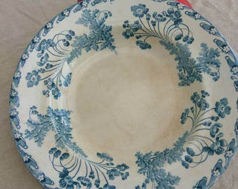Antique French transfer ware bowl by Longwy