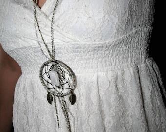 Optical calcite necklace / / dreamcatcher / / Spathea