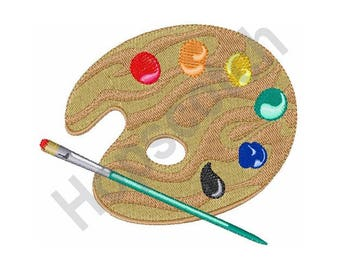 Painters Palette - Machine Embroidery Design