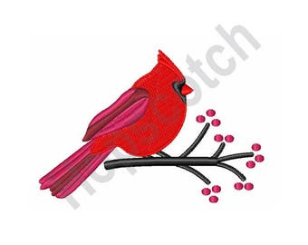 Red Cardinal - Machine Embroidery Design