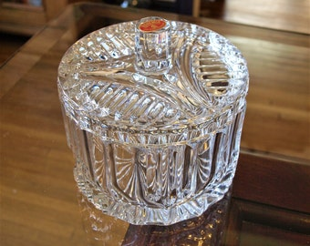 Czechoslovakia Bohemia 24 percent Lead Crystal Bowl with Lid – Lucia Covered Bowl – Perfect Condition Bohemian Crystal