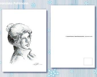 "Postkarte ""Wintermütze"""