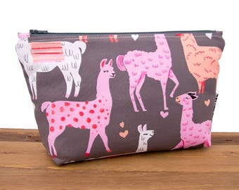 Llama Gifts - Llama Bag - Llama Makeup Bag - Zipper Pouch - Best Friend Gift - Make Up Bag - Cosmetic Zip Pouch - Cute Pencil Pouch  #22