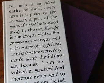 No Man is an Island  John Downe  Folio Society 1997  Perfect unread condition