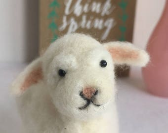 Needle Felted Lamb, Needle Felted Sheep, Easter Lamb, Wool Lamb, Miniature Lamb, Easter Gift, Spring Lamb