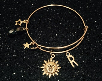Sun and Stars Initial bangle
