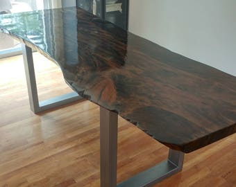 Custom Sycamore Live Edge Slab Dining Tables, Coffee Tables or Confrence Room Tables