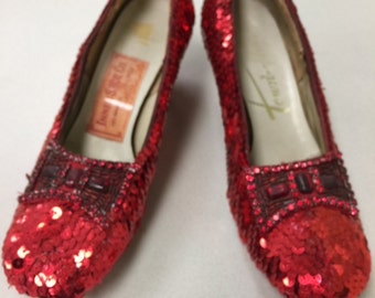 Replica of Judy Garland's Ruby Slippers in The Wizard of Oz