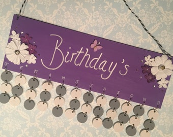 Birthday Reminder Board
