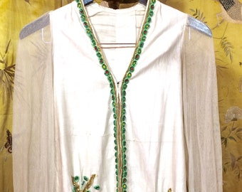 Antique hand embroidered blouse