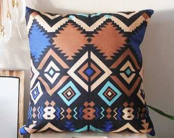 Boho Pillow Cover, Bohemia Pattern Pillow Cover, Pillow Covers, Throw Pillows, Decorative Pillow Cover, Boho Cushion, Aztec Cushion covers,