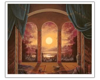 Moonlight - Fine art greeting card (blank inside)