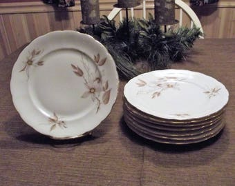 Crown Heiden CWH2, Set of 8 Salad Plates, made in Bavaria