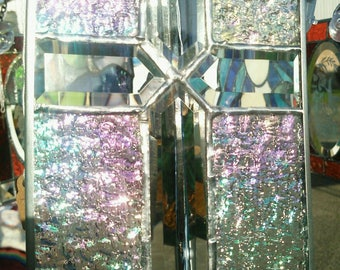 Iridescent Stained Glass Cross