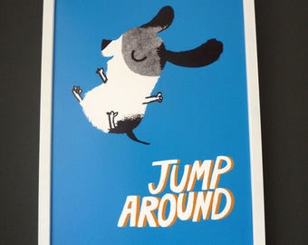 Jump Around A4 giclée print