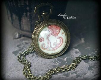 Antique Bronze horoscope chain zodiac sign Aquarius