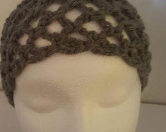 Gray Women's Headband - Trellis Headband - Simple Headband - Stretchy Headband - Travel Headband