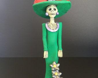 Dia de los Muertos figurine: La Catrina