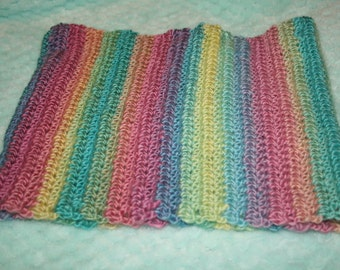 Tall pastel rainbow cowl