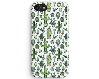 Cactus cartoon - iPhone X case, iPhone 8 case, iPhone 8 Plus, iPhone 7 case, Samsung Galaxy Note 8 case 1C047