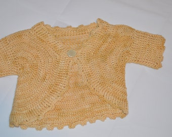 2 - 3 Years Old Girls' Gold Cardigan