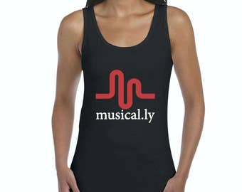 Free Shipping! Blue Tees Musical.ly Women Tank Top Clothes