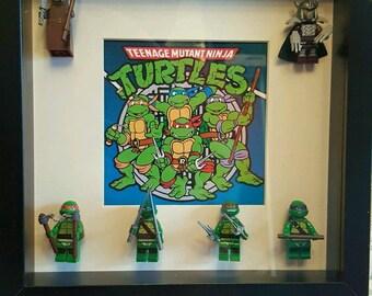 Teenage Mutant Ninja Turtles 3D lego frame Leonardo Raphael Michaelangelo Donatello kids classic tv