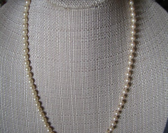 Vintage Monet Imitation Pearl Necklace - String of Pearls