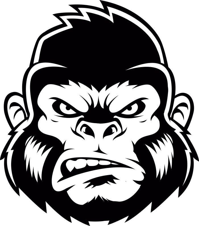 gorilla 2 ape head growling kong head mean monkey mascot baby boy monkey clip art baby monkey clip art images
