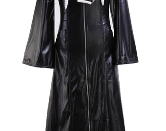Organization XIII Kingdom Hearts 2 Trench Coat Leather Long Suit Cosplay Costumes