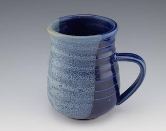 Royal Blue Ceramic Handmade Mug, Handmade Mug, Ceramic Coffee Mug, Coffee Cup,Studio Pottery Mug, Wheelthrown, 12 oz